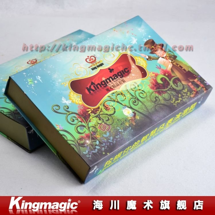 Magic Collection(8 Props) Children Present With DVD English Instruction Gift Box Package Magic Tricks Magic Sets Free Shipping(China (Mainland))