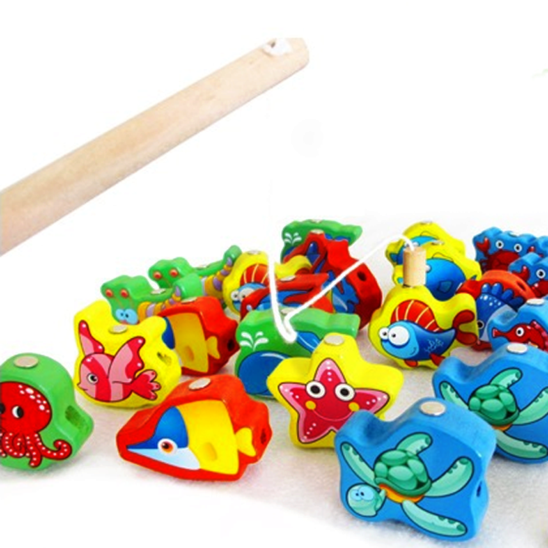 Hot 1 Set Magnetic Marine Ocean Animal 3D Three-dimensional Beaded Fishing Combo Blocks Early Learning Baby Kids Toys Gifts 2016(China (Mainland))