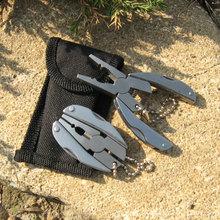 Многоцелевой отдых на природе выживание складной карманный плоскогубцы многофункциональный EDC регулируемый открытый охота отвертка разводной ключ челюсть нож
