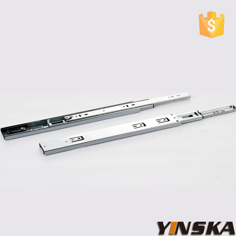 45mm Three folds full extension ball bearing Telescopic channel(China (Mainland))