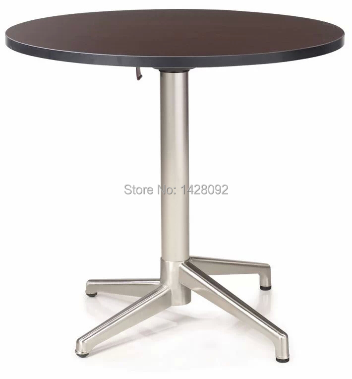 Fashion Modern Folded Round Mdf Top Brushed Aluminum