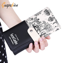 Buy Guapabien Women Gift Clutch Wallet PU Leather Print Purses Hasp Long Wallet Female Money Bags Handbag Carteras Mujer Monederos for $3.88 in AliExpress store