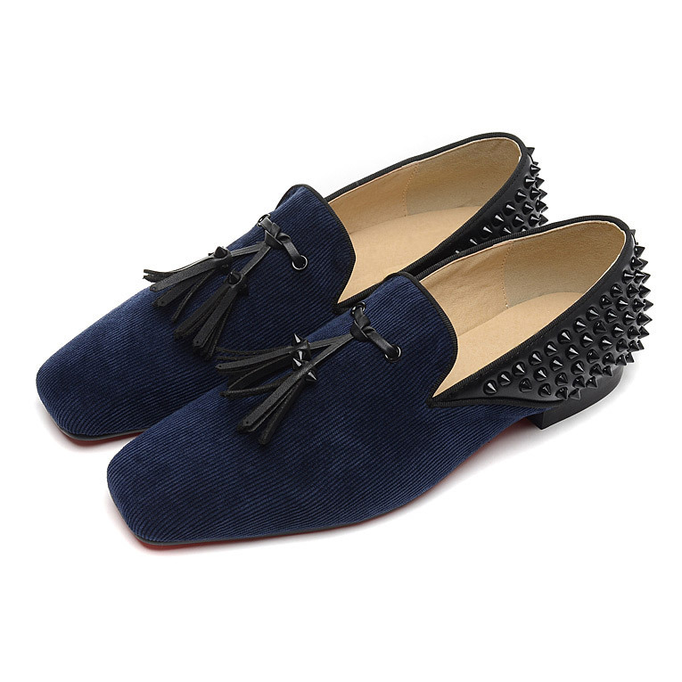 Red Spiked Loafers For Men Replica Christian Louboutin