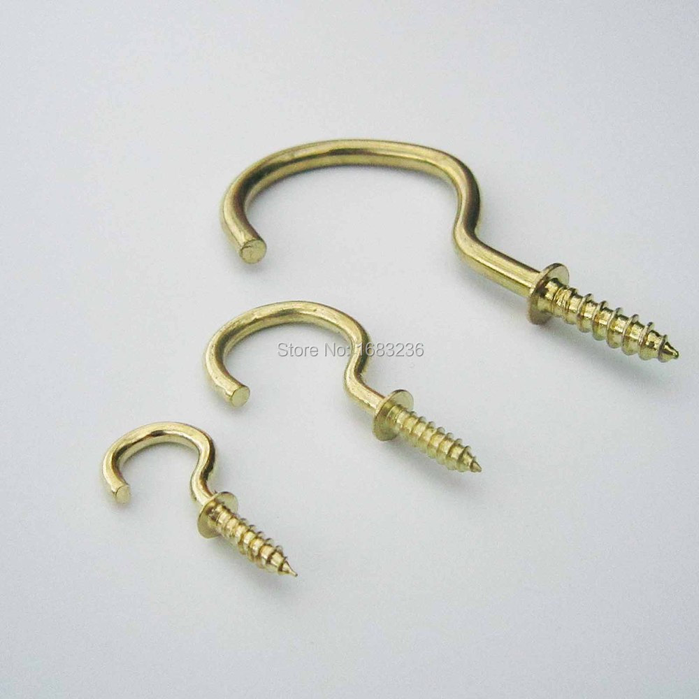 25pcs Picture Frame Lamp Light Cabinet RV Tool Plant Curtain Net Wire Eye Bolt Eyebolt Screw in Spiral Hanger C Cup Hook(China (Mainland))