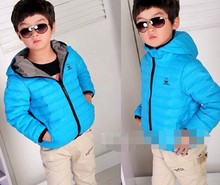 High quality Boys children's Baby down coat Jackets outerwear thickening free shipping 48 hours to send(China (Mainland))