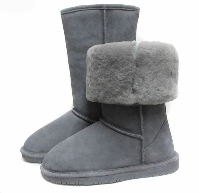 Bear paw bearpaw cowhide wool snow boots cow muscle outsole snow shoes grey high lather-bag