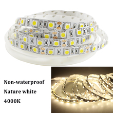Buy Tanbaby DC 12V LED Strip lights 4000K Nature White SMD 5050 flex led light tape Non-waterproof string rope 5M 300 leds DC12V for $6.66 in AliExpress store
