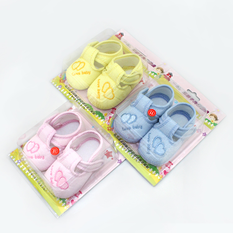 Cute Heart Print Baby Shoes Infant Girl Boy Anti-slip Soft Cotton Soled Sneaker(China (Mainland))