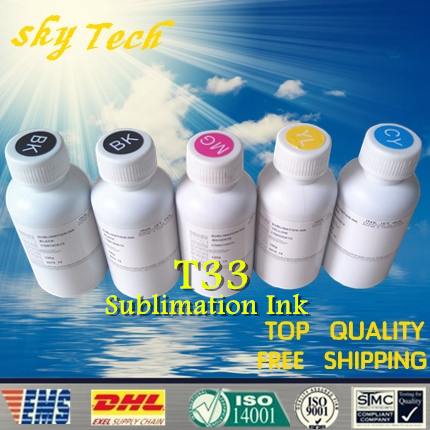 Free shipping ! Sublimation ink suit for Epson T1151 T1151 T0732N T0733N T0734N , suit for  Epson Stylus T33 ,5 color ,5pcs/lot