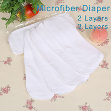 10 pieces Cloth Diapers For Newborn Baby 2 Layers Disposable Diapers Nano Microfiber Reusable Nappies Washable Nappy Inserts V49(China (Mainland))