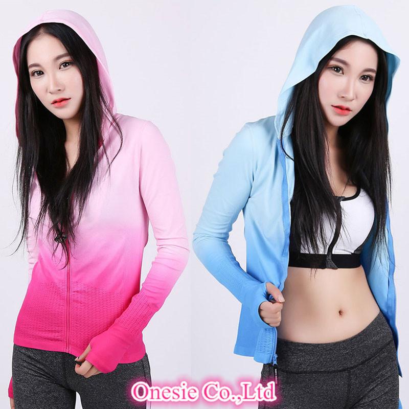 Gym Fitness Clothing Sport Sweatshirts Female Women Yoga Hoody T Shirts Winter Autumn Coat Hoodies Running Tees Jacket Tops