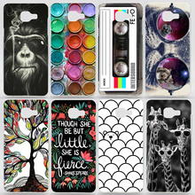 Case For Samsung Galaxy A5(2016) A510 A510F Transparent Coloured Drawing Phone Cover For Samsung A5(6) Plastic Hard Phone Cases