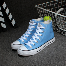 Buy Free Unisex Canvas Shoes Lacing High Top Preppy Style Trendy Candy-colored Canvas Casual Shoes Size 35~43 for $22.99 in AliExpress store