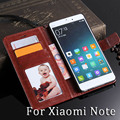 Phone Case For Xiaomi Note Crazy Horse Flip PU Leather Case Cover For Xiaomi Credit Card