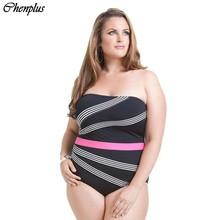 Chenplus Plus size swimwear women one piece monokini swimsuit summer style maillot de bain bathing suit 2016 black color