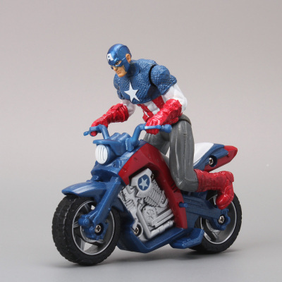 10pcs/lot Captain America in Motorcycle PVC Action Figure Model Toy Boys Toys Christmas Gift 10CM Free Shipping <br><br>Aliexpress