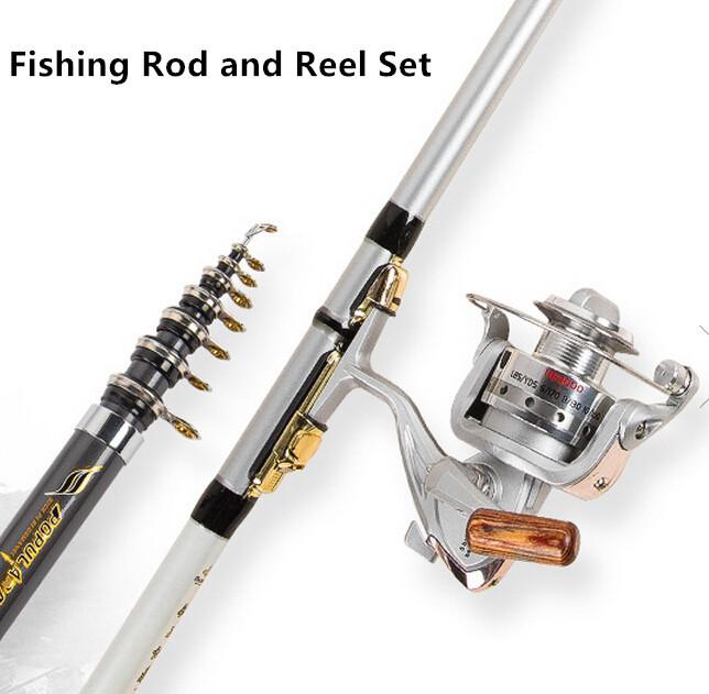 Telescopic Rod and Metal Reel Set
