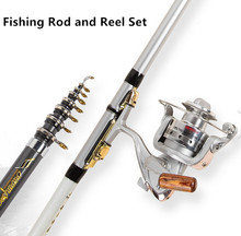 Lure Rod Carbon Deep Sea Saltwater Fishing Rod Portable Foldable Travel Spinning Superhard Telescopic Rods and Metal Reels Set