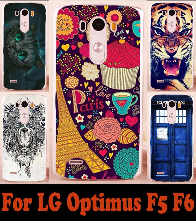 22 styles patterns Hard Plastic mobile phone case for LG F6 D500 D505 phone cases bags protective case Back cover skin shell(China (Mainland))