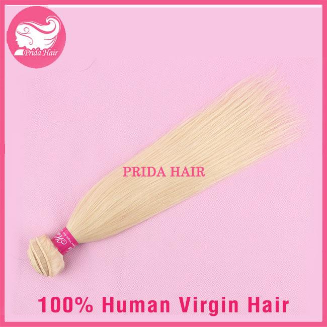 7A Platinum 613 Brazilian Hair Bundles 1pc Straight Blonde Hair Extensions Unprocessed Human Virgin Brazilian Blonde Hair Weave