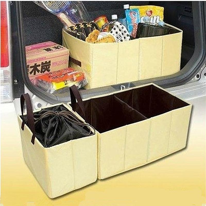 2016 Auto Driver Travel Camping Kit 2 X Collapsible Car Boot Organiser Trunk Organizer Space Saving Cooler Bag Storage Boxes(China (Mainland))