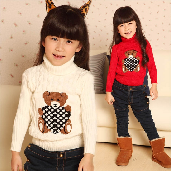 New Arrivals Winter Childrens sweaters turtleneck pullovers boys& girls knitted sweater(China (Mainland))