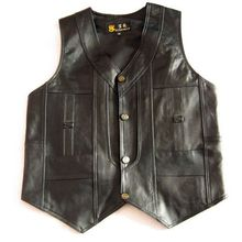 2012 male leather vest sheepskin men's vest the elderly spring and autumn casual vest(China (Mainland))