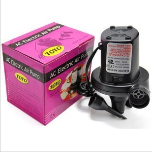 Free Shipping Retail auto AC 220V Electric Air Pump (Inflator/Deflator) With 3 Different Nozzles