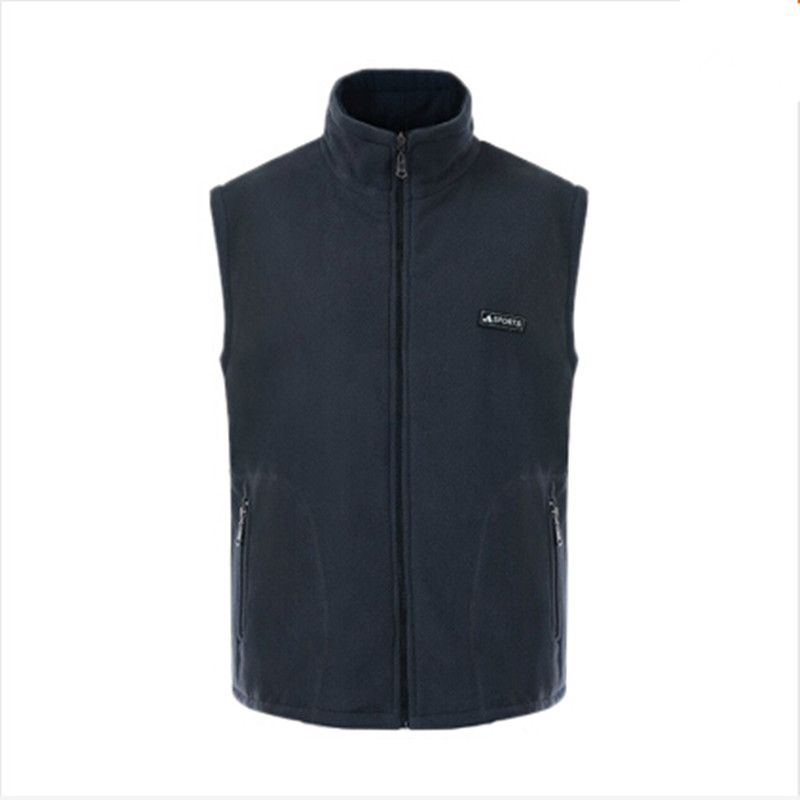 New Winter Clothing Men's Vest Autumn Reversible Sleeveless Jacket Vest Plus Size Mens Polar Fleece Zipper Warm Sports Waistcoat(China (Mainland))