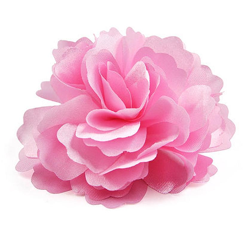 New Hot Silk Flower Hair Clip Brooch Wedding Corsage Flower Clip 8cm Brooch Accessory - Pink(China (Mainland))