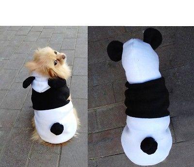 Hot Fashion Cute Pet Dog Cat Clothes Coat Apparel Puppy Warm Jacket Hoodie Panda Costume(China (Mainland))
