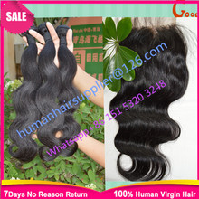 6A Grade virgin brazillian body wave hair with silk based closure grace hair extension with silk closure grace hair with closure