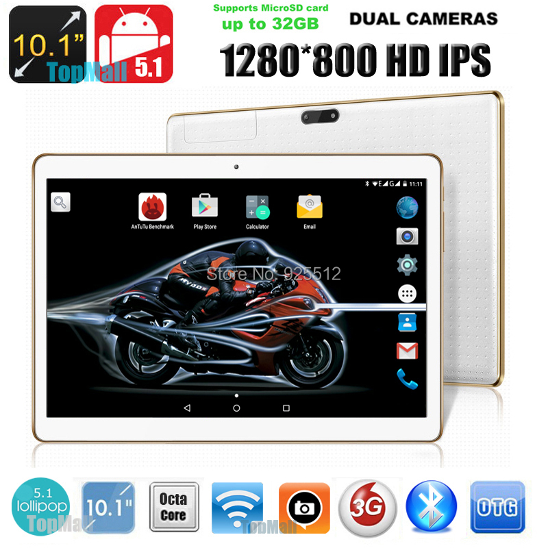 10 inch Tablet Octa Core 1280*800 4GB RAM 32GB ROM Dual SIM Card Android 5.1 GPS Wifi 3G tablet pc 10.1 DHL Free Shipping(China (Mainland))