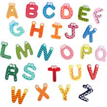 Date mignon 26 Pcs enseignement Alphabets aimant magnétique lettres Stickers muraux(China (Mainland))
