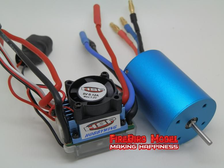 HSP Original 540 3300KV Brushless Motor +  45A brushless ESC Combo, Suitable for all 1/10 Rc Drift Car/Monster Truck /Buggy<br><br>Aliexpress
