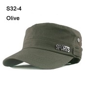 2013Special Cheap 10pcs Metal SPORTS Army Hats Women Fashion Visors Ladies Military Cap Fashion Mens Hat Baseball Caps Olive S32