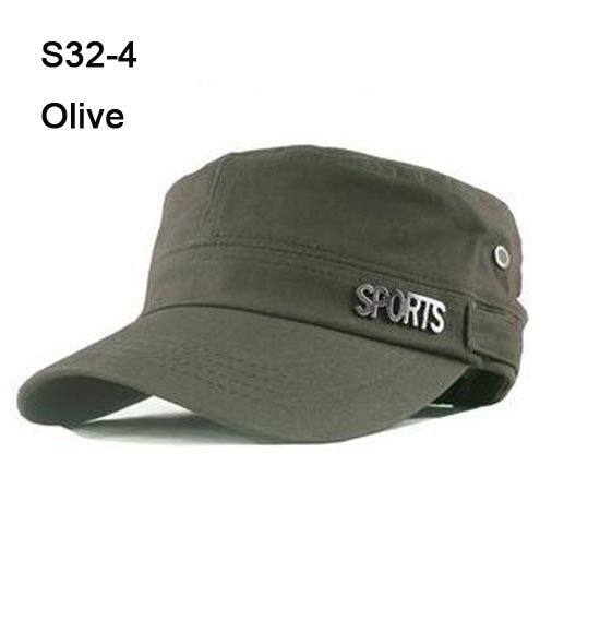 2013Special Cheap 10pcs Metal SPORTS Army Hats Women Fashion Visors Ladies Military Cap Fashion Mens Hat Baseball Caps Olive S32