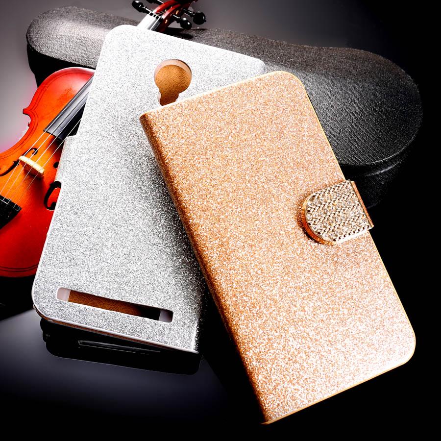 PU Leather Flip Case Bling Diamond Phone Case Cover THL T6 T6S T6C T6 PRO 5.0 inch Wallet Case Glitter Holster Housing Shell