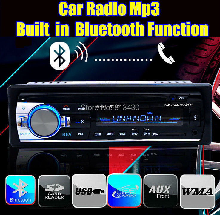2015 new car radio player stereo 12V mp3 player audio Support Bluetooth/SD Card/USB Port/AUX IN/PHONE/1 Din in dash car radios(China (Mainland))
