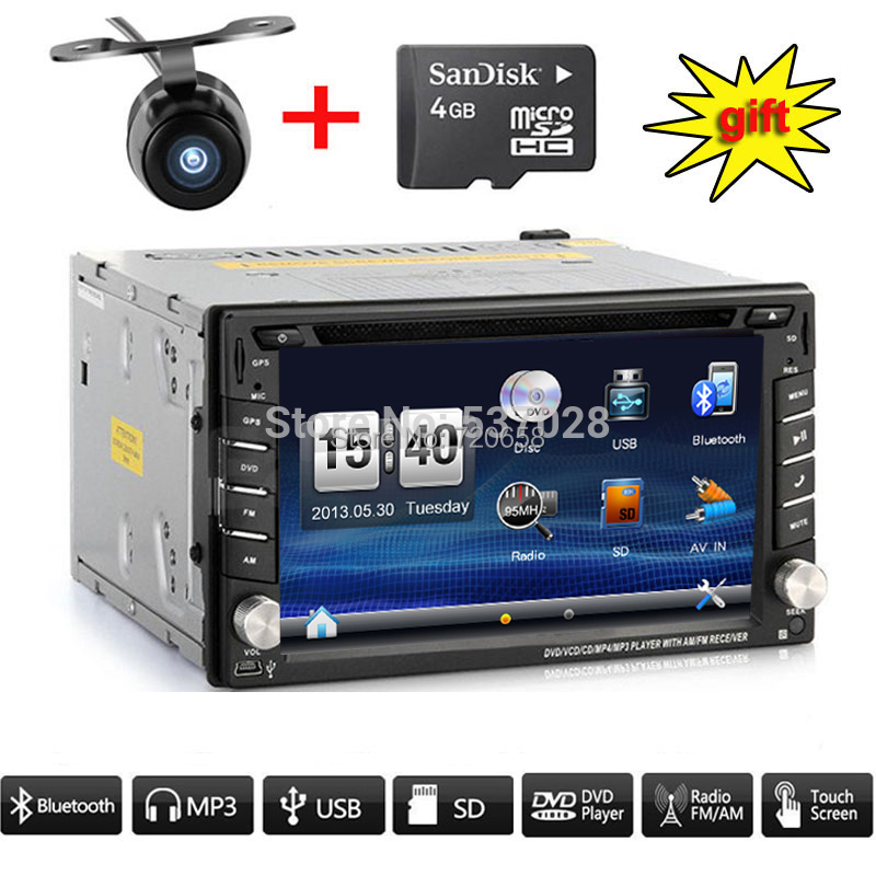 2Din Universal Car DVD For many old Cars with GPS Navigation Bluetooth Radio music free map