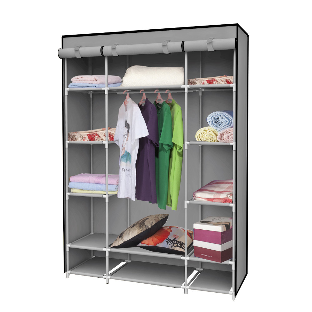 1set Clothe Storage Wardrobe Simple Portable Cloth Closet New Fashion Sundries Storage Cabinet
