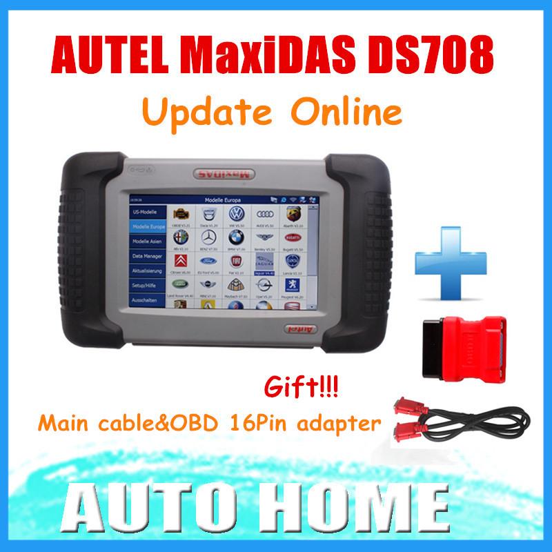 [AUTEL Distributor] 2015 100% Original Autel Maxidas DS708 DS 708 Update Online Auto Diagnostic Scanner 3 Years Warranty(China (Mainland))