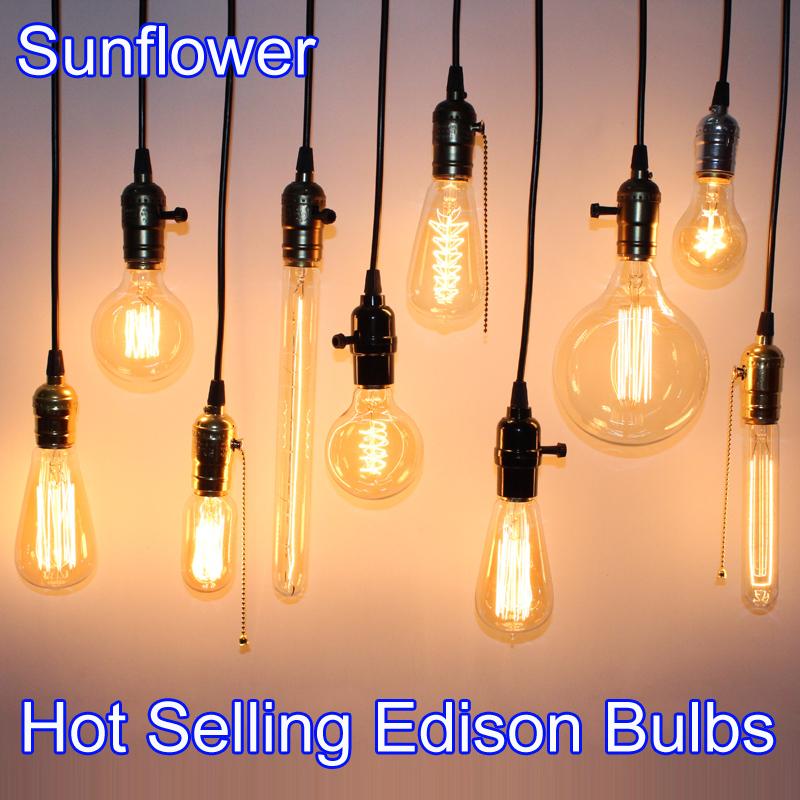 hot sale vintage edison bulb light lamp ac 110v 220v e27. Black Bedroom Furniture Sets. Home Design Ideas