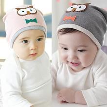 New Baby Boys Girls Hat Cotton Blends Caps Newborn Infant Baby Hat Owl Print(China (Mainland))