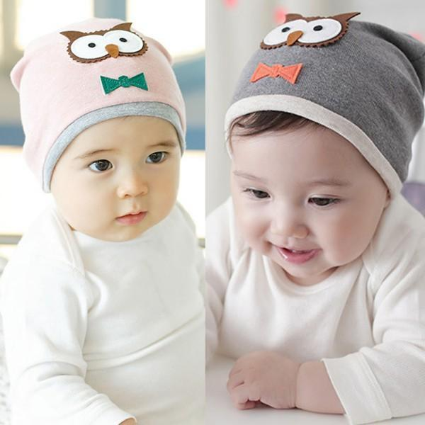 New Baby Boys Girls Hat Cotton Blends Caps Newborn Infant Baby Hat Owl Print(China (Mainland))