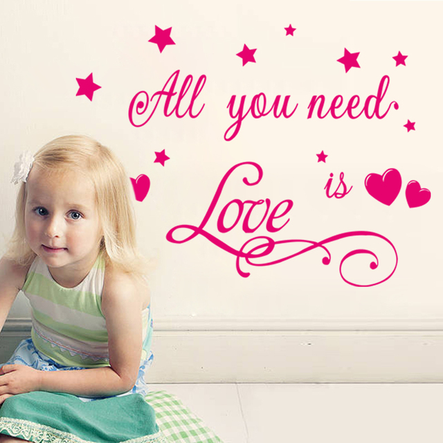 Все , любовь есть любовь стены наклейки для детской комнаты Nursey украшения дома на стены съемный арт-mail обои