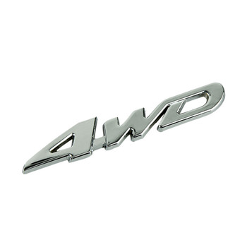 Dependable Car Metal Chrome 4WD Displacement Emblem Badge All Wheel Drive Auto sticker Ma 21