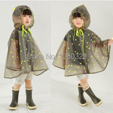 New Korean Style font b Burberry b font kids Raincoat Yellow Dots Poncho Women Boys Rainwear