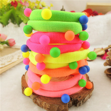 Buy TS 10pcs Candy Colored Rivet Hair Holders High Rubber Bands Hair Elastics Accessories Girl Women Tie Gum for $2.80 in AliExpress store