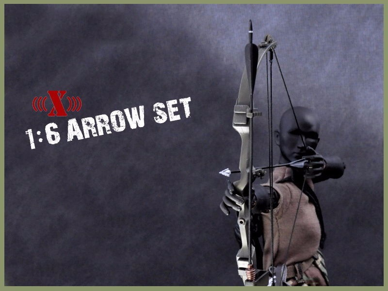 "Buy Hobby Collections X-TOYS 1/6 Scale Rambo Black Bow Arrow Set & Knife Model Toys For 12"" Action Figure Body Accessory cheap"